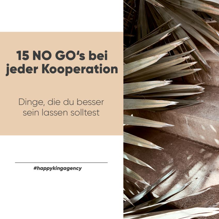 15 No-Go's für jede Kooperation