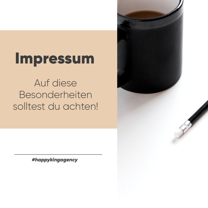 Das Impressum – Besonderheiten, die du beachten solltest