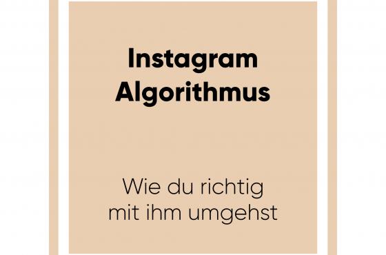 Der Instagram Algorithmus – Wie du richtig mit ihm umgehst