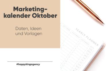 Marketingkalender zur Inspiration für deinen Content im Oktober