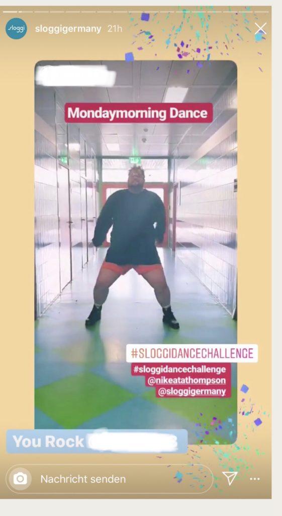 Männlicher Teilnehmer bei der sloggi Dance Challenge Photo Credit: sloggi