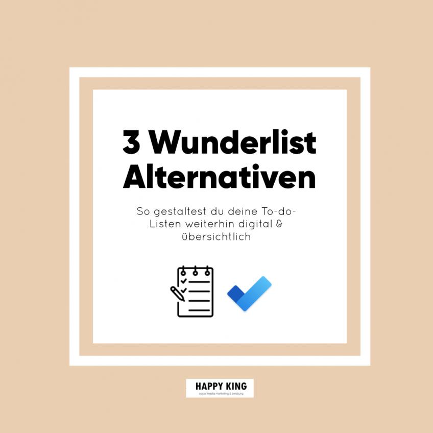 3 Wunderlist Alternativen für deine digitale To-Do-List