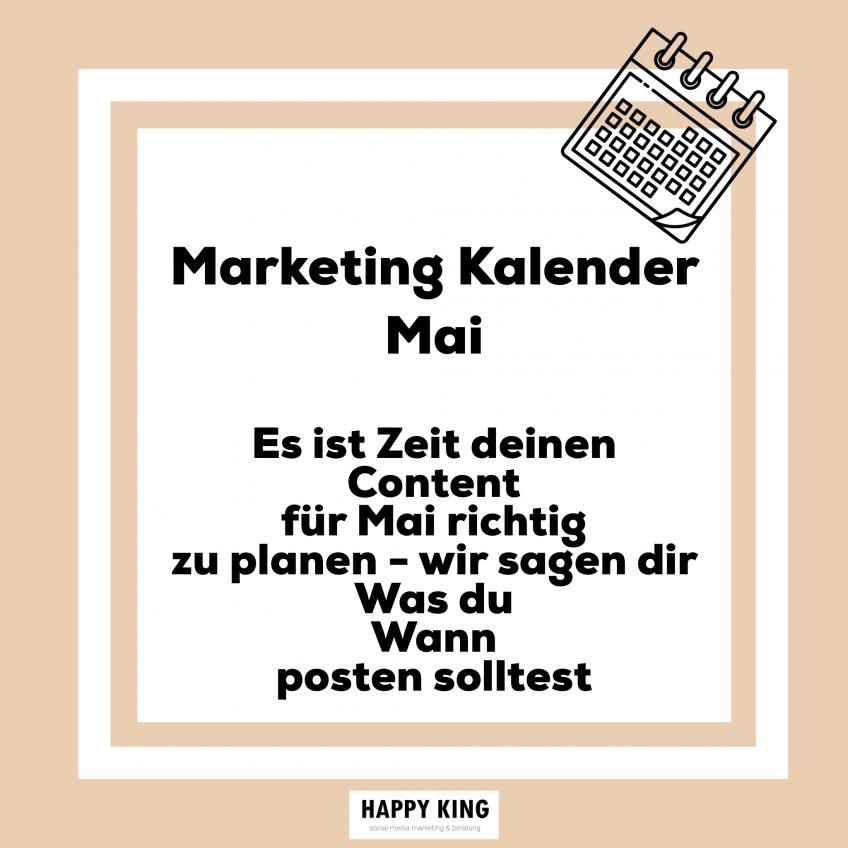 Marketingkalender für deinen Content im Mai